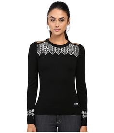 Dale of Norway Lillehammer Sweater Black/Orange Peel - Zappos.com Free Shipping BOTH Ways
