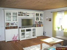 decorative tv shelving ideas - Google Search Tv Shelving, Shelving Ideas, Shelves, Liatorp, Ikea, Bookcase, Decor Ideas, Google Search, House