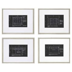 I pinned this Candice Olson 4 Piece Desks Framed Print Set from the sfa design event at Joss and Main!