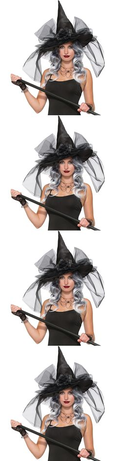 ace76262c1641 Hats and Headgear 155349  Fancy Deluxe Witch Hat Adult Halloween Accessory  Women Men Black Party One Size -  BUY IT NOW ONLY   33.58 on eBay!