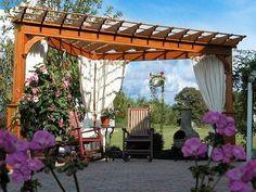 Luxurious wooden corner pergola picture Looking the Best Corner Pergolas to Make Your Yard Look Amazing