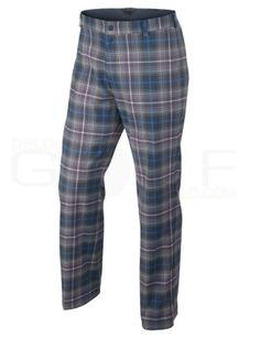 Nike 34x30 Tartan Plaid Flat Front Dri-FIT Men's Golf Pants $85 509741 459 #Nike #Pants