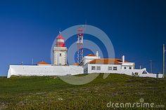 Farol do Cabo da Roca stock image. Image of coastal, buildings - 37770059 Atlantic Ocean, Bouldering, Portuguese, Granite, Lighthouse, Third, Coastal, Mansions, House Styles
