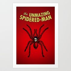 The Unmazing Spidered-Man Art Print by Joe Rivera - $14.00