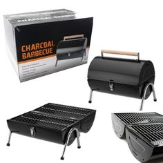 BBQ Barbecue Charcoal Grill Kettle Portable Small Foldable Barrel Camping Garden…