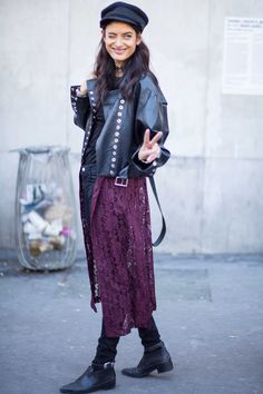 On the street at SS17 Paris Fashion Week. Photo: Chiara Marina Grioni/Fashionista.