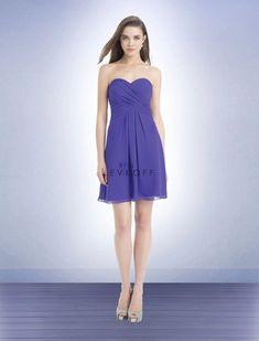 bill levkoff chiffon tea length strapless bridesmaid dress size 8  fashion   clothing  shoes cb76d1e23
