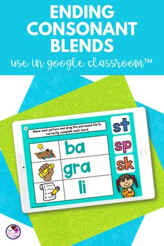 Are you looking for a fun final consonant blends activity to use in your first grade learning centers? Your students will enjoy this interactive digital activity made with Google Slides™. Students will be reading the first grade words, finding the ending consonant blends,