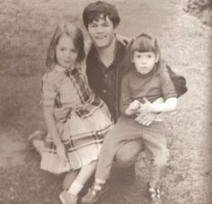 Micky and his two youngest sisters, Debbie and Gina.