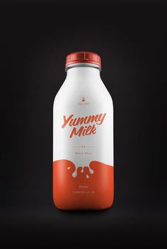 Yummy Milk Packaging Concept by Designer Simon Spring from Canada. Design of Yum… Yummy Milk Packaging Concept by Designer Simon Spring from Canada. Design of Yummy Milk Brand and Bottledesign. Yogurt Packaging, Dairy Packaging, Milk Packaging, Cool Packaging, Food Packaging Design, Beverage Packaging, Bottle Packaging, Packaging Design Inspiration, Brand Packaging