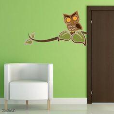 Pöllö-seinätarra / Wall Sticker, Owl