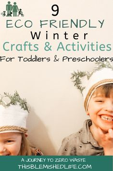 FInding Low waste crafts and activities for young kids is a challenge especially during the winter! For the past couple weeks I have been working with my kids and the kids in my home daycare to come up with these fun , educational, and ECO FRIENDLY activities to do during the winter break! Clikc through to check them out! Craft Activities For Toddlers, Outdoor Activities For Kids, Infant Activities, Toddler Preschool, Crafts For Kids, Minimalist Parenting, Minimalist Lifestyle, Eco Kids, Eco Baby