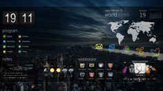 Windows 7 themes monsoon windows7 rainmeter theme desktops rainmeter gumiabroncs Image collections