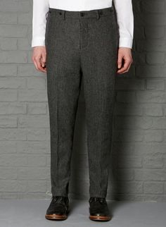 Norfolk Jack Pant #aw13 #farrell #charcoal #black #dogtooth #wool