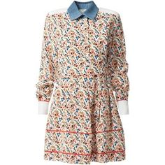 Fendi Monogram Print Shirt Dress