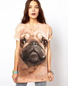 The Mountain Pug T-Shirt $36