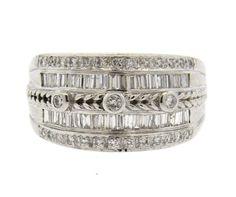 Levian Levian 18K Gold Diamond Wide Dome Ring   eBay