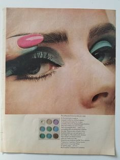 Retro Makeup 1964 Givenchy collection of Cosmetics eye makeup vintage ad - Vintage Makeup Ads, 70s Makeup, Vintage Nails, Retro Makeup, Vintage Beauty, Soft Eye Makeup, Bronze Eye Makeup, Prom Makeup Looks, Beauty Ad