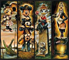 Cute Mickey and friends! Retro Disney, Disney Fun, Vintage Disney, Disney Parks, Minnie Mouse, Mickey Mouse And Friends, Disney Mickey Mouse, Haunted Mansion Disney, Haunted Mansion Tattoo