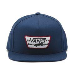 Vans Full Patch Snapba Dress Blues-Rhu: The Full Patch Snapback Hat is a cotton snapback hat with a Vans full patch at the front panel. 5 Panel Hat, Buy Vans, Hat Shop, Dress Hats, Blue Dresses, Dress Blues, Snapback Hats, Hats For Men, Mens Fashion
