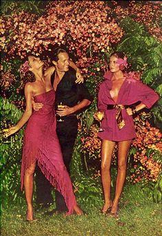 Vogue US 1974, Cheryl Tiegs & René Russo By Helmut Newton