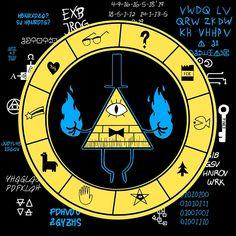 Gravity Falls - Bill Cipher Zodiac by TheMungoman