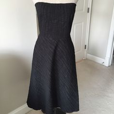 J.Crew black strapless dress Classic strapless black dress from J.Crew. Zip closure with hook and eye. 100% cotton. J. Crew Dresses
