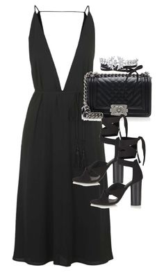 A fashion look from March 2016 featuring topshop cocktail dresses, thick heel sandals and quilted crossbody purse. Browse and shop related looks. Casual School Outfits, Classy Outfits, Chic Outfits, Girl Outfits, Fashion Outfits, Little Black Dress Outfit, Black Dress Outfits, Best Formal Dresses, Diva Fashion