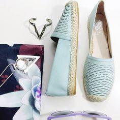 FINAL PRICE Vince Camuto Aqua Leather Espadrilles Details: • Size 6 • Leather with laser cut details • Brand new in box   02161610 Vince Camuto Shoes Espadrilles