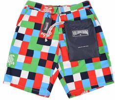 NEW Vilebrequin Men's $280 Checkerboard Sea Turtle Trunks Board Shorts SMALL #Vilebrequin #BoardShorts