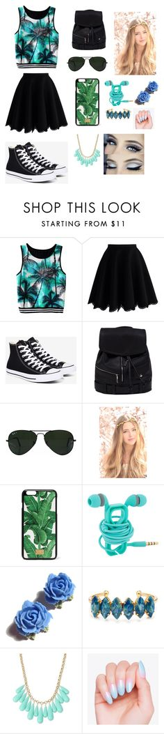 """:o"" by reka-laura-hegedus on Polyvore featuring Chicwish, Converse, Ray-Ban, Dolce&Gabbana, Tarina Tarantino, Elizabeth Cole and INC International Concepts"