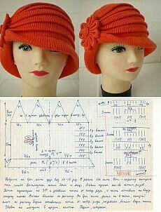 Laura Hat pattern by Olga Shepetilnikova Easy Crochet, Knit Crochet, Crochet Hats, Crochet Scarf For Beginners, Sombrero A Crochet, Crochet Hooded Scarf, Knitting Patterns, Crochet Patterns, Diy Hat