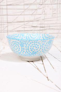 Bol japonais à motif tourbillons - Bleu chez Urban Outfitters