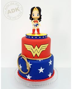Wonder woman cake - bolo Mulher Maravilha