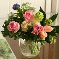 【2/1~2/28到着】バラのシュガーピンクブーケとBOB CRAFTベースセット(balloon) | 花・花束の通販、配送【花・フラワーギフトなら青山フラワーマーケット】