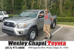 I came into Wesley Chapel Toyota with low expectation, as the car buying experience can be awful. However, I was floored by the exception service I got from my new friend Vince Haley. He was honest, enthusiastic, and forthright. All the things I could want in a dealership. -Derek Brodehl, Sunday, April 12, 2015  http://www.wesleychapeltoyota.com/?utm_source=Flickr&utm_medium=Dmaxx&utm_campaign=DeliveryMaxx