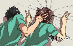 Lmfao, Iwachan is tired of your shit Oikawa-san // Iwaizumi Hajime & Oikawa Tooru - Haikyuu!! / HQ!!