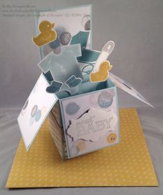 Something For Baby, Baby We've Grown, Lullaby DSP, Baby's Firsts Framelits baby boy card in a box