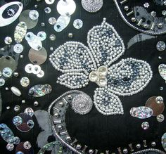 I ❤ the beadwork & embroidery . . .   Detail silver symphony 2