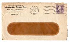 1919 LEONARD SEED CO*CHICAGO ILLINOIS*LEONARD'S SEEDS*POSTAL COVER ENVELOPE*
