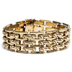 - Breites vintage Armband aus Gold, Deutschland um 1960 von Hofer Antikschmuck aus Berlin // #hoferantikschmuck #antik #schmuck # #antique #jewellery #jewelry // www.hofer-antikschmuck.de (21-2546)