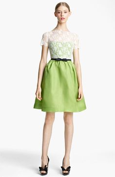 Valentino Lace & Organza Dress | Nordstrom - at $3,300, I could figure out a way to sew something similar, no problem!
