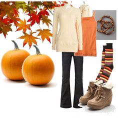 Fall fun! This makes me want to skip summer so I could wear this! created by becca-lynn-div on Polyvore