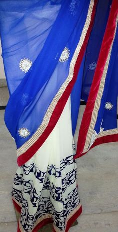 Indian Ethnic Beautiful Traditional Bollywood style bridal embroidered new sari