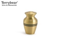 Terrybear Classic Bronze Keepsake. This Keepsake can hold a small amount of cremated remains.