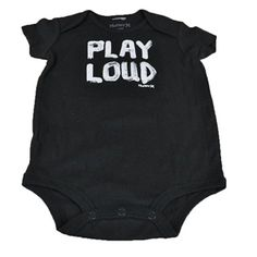 Play Loud Funny Baby BodySuit Painted Authentic Hurley Children Fashion Black