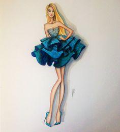 Création originale de Fashion-Alice par loveillustration sur Etsy - she looks like a flower!