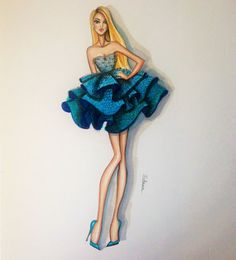 ORIGINAL Fashion Illustration Alice by loveillustration on Etsy