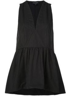 Narciso Rodriguez V-neck peplum top - Black Narciso Rodriguez, Black Midi Dress, World Of Fashion, Black Cotton, Black Tops, Peplum, Women Wear, V Neck, Clothes For Women