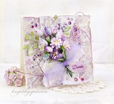 Wild Orchid Crafts: Thank You card Mixed Media Cards, Shabby Chic Cards, Wild Orchid, Beautiful Handmade Cards, Paper Cards, Cards Diy, Card Making Inspiration, Pretty Cards, Card Tags